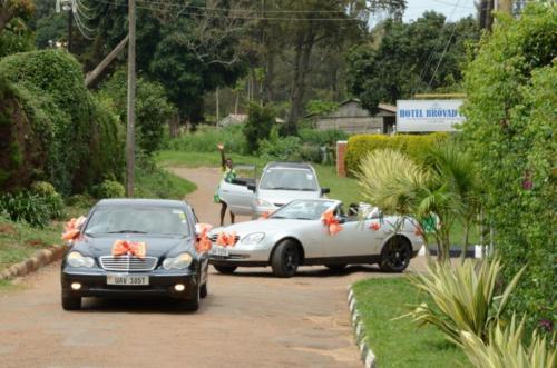 wedding cars on kampala streets